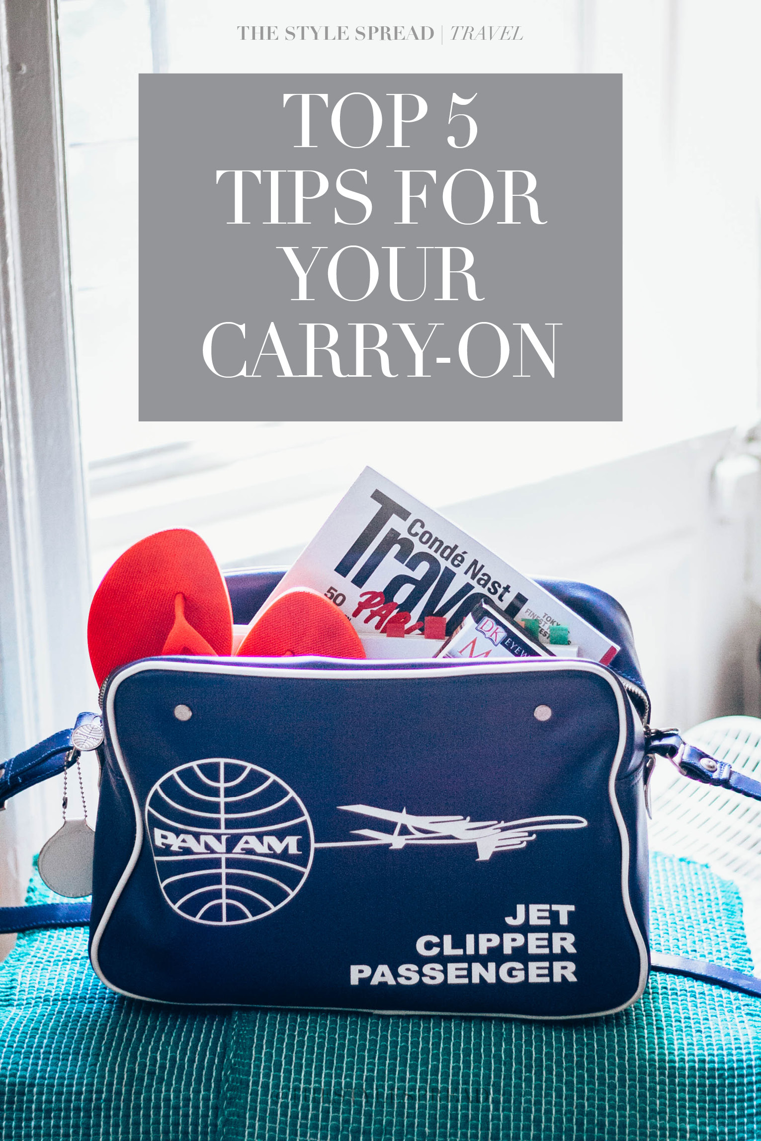 Top 5 tips for packing your carry-on