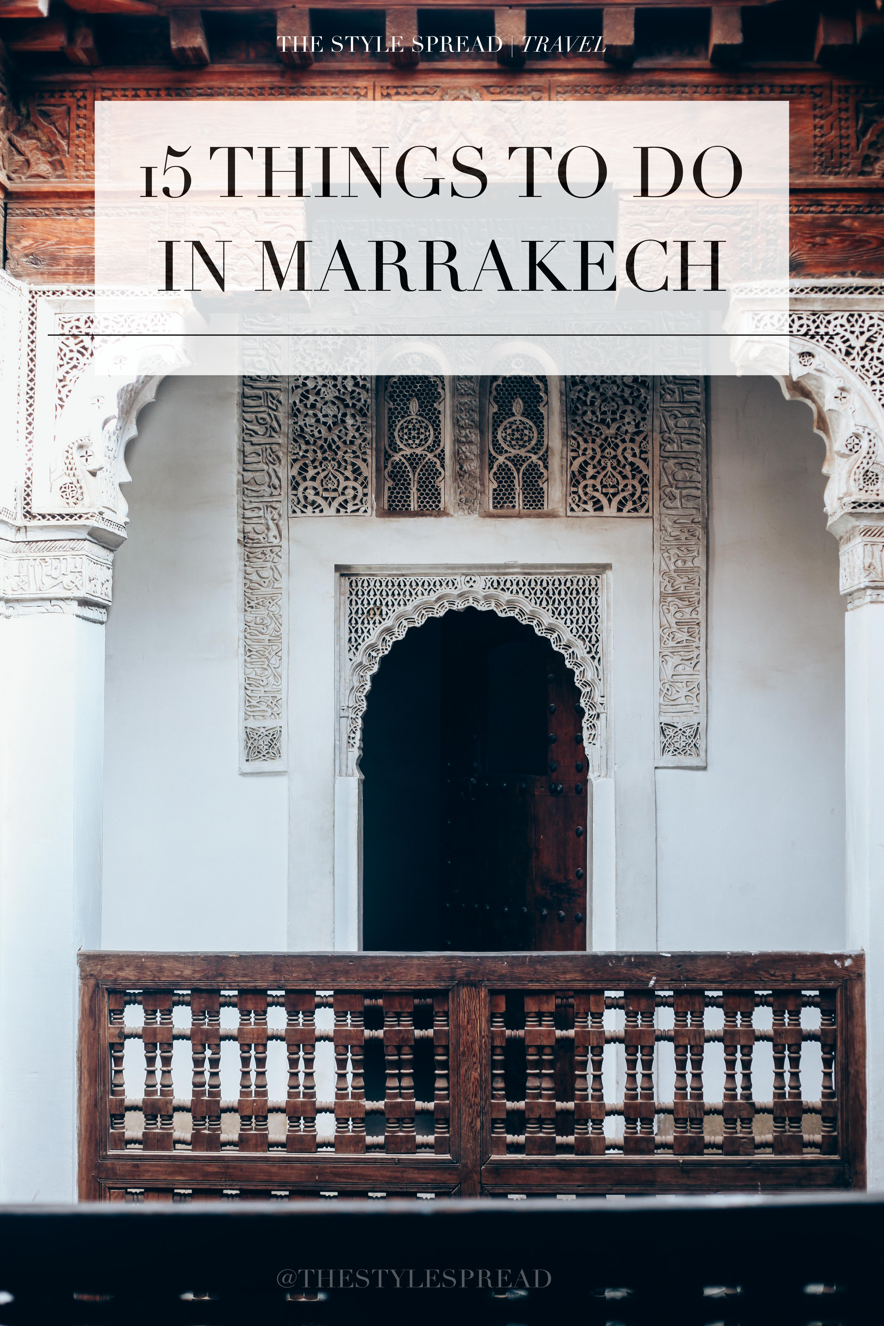 15 Things to Do in Marrakech, Morocco