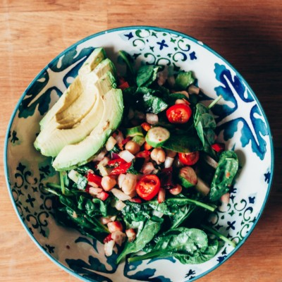 Spinach and Chickpea Salad Bowl